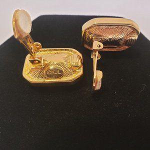 Kenneth Jay Lane Jewelry - Kenneth J Lane Ladies Heliotrope Clip Earrings